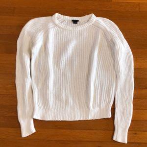 Theory white cotton sweater.
